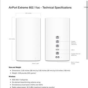 APPLE AIRPORT EXTREME 802. 11 ac